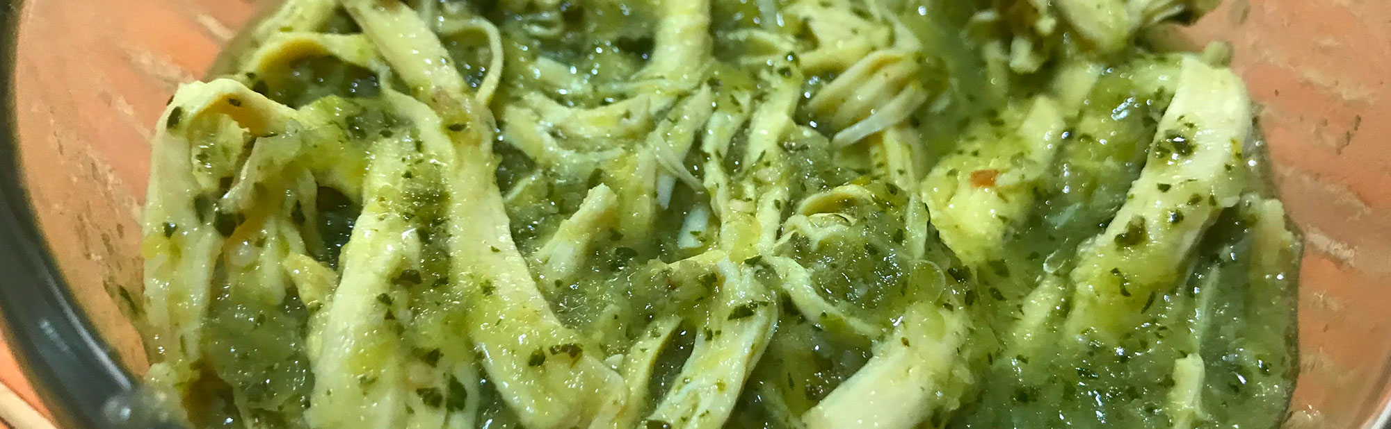 La Antojadera | Shredded Chicken in Green Sauce