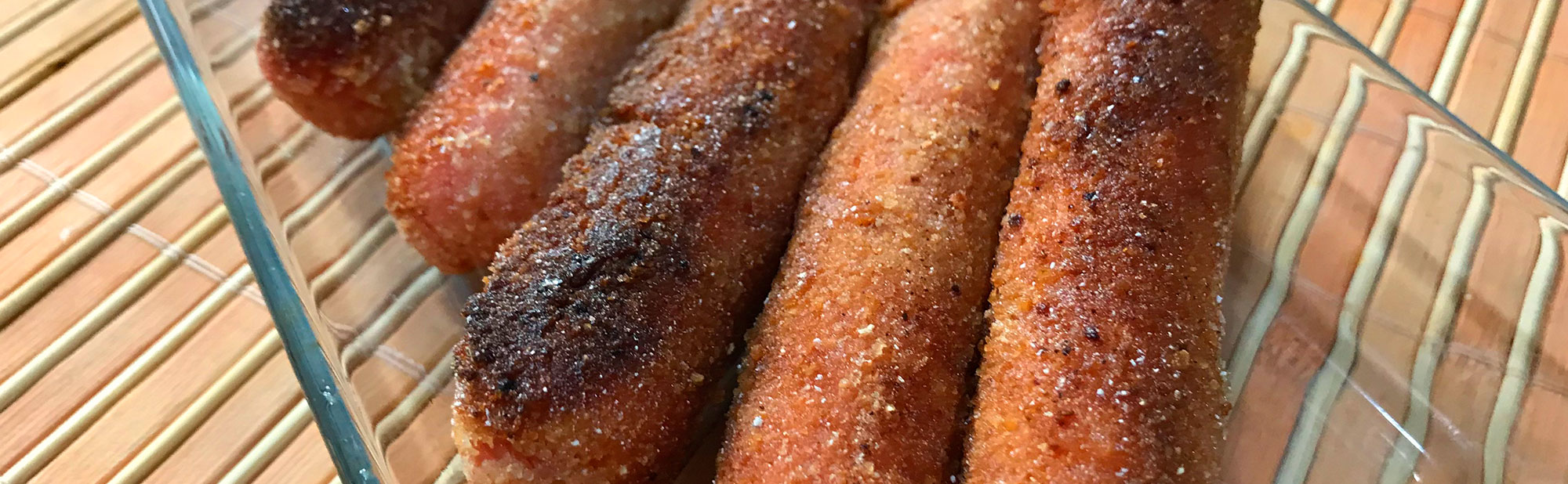 La Antojadera | Salchichas Empanizadas