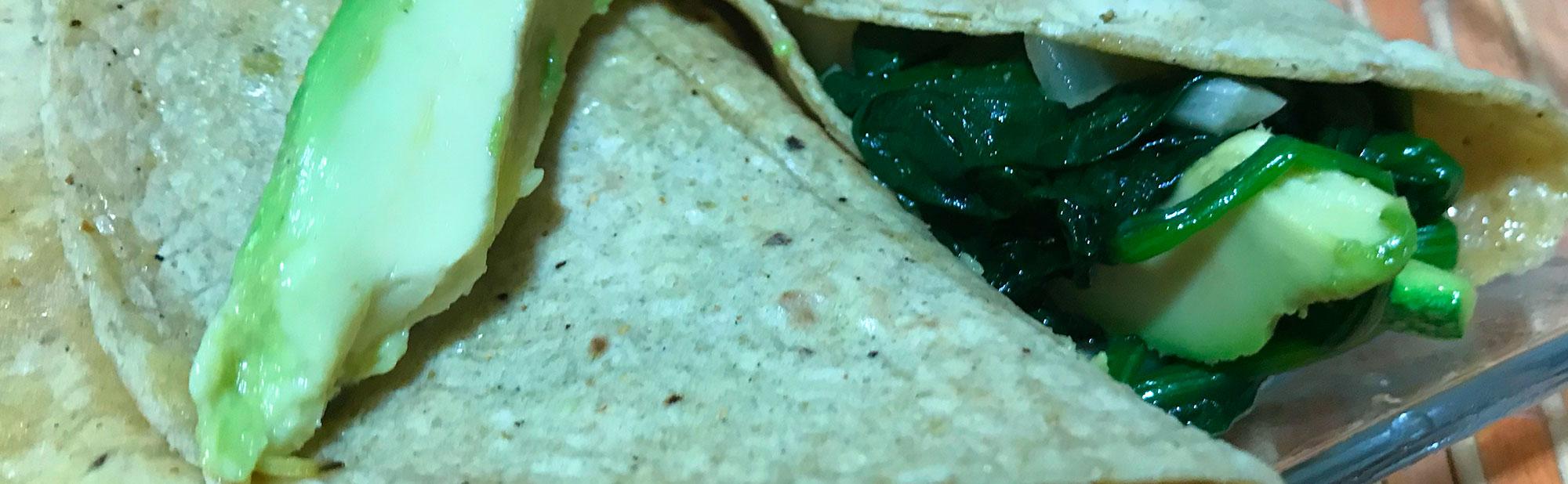 La Antojadera | Tacos de Espinacas y Calabazas