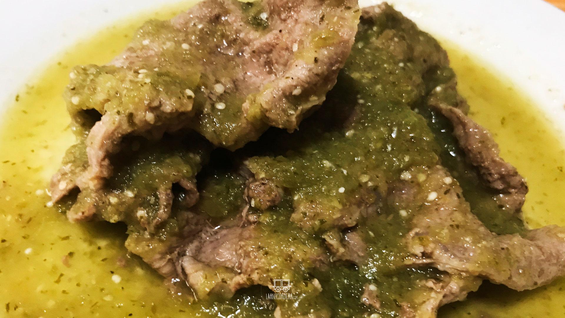 La Antojadera | Bistec de Res en Salsa Verde