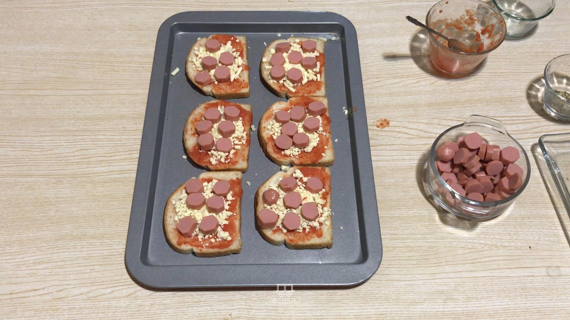 La Antojadera | Mini Pizza de Salchicha con Pan de Molde