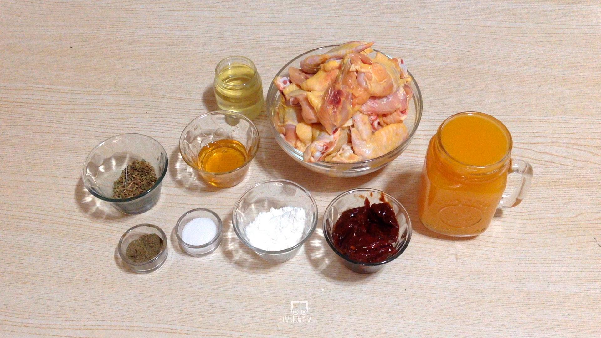 La Antojadera | Alitas en Salsa de Mango