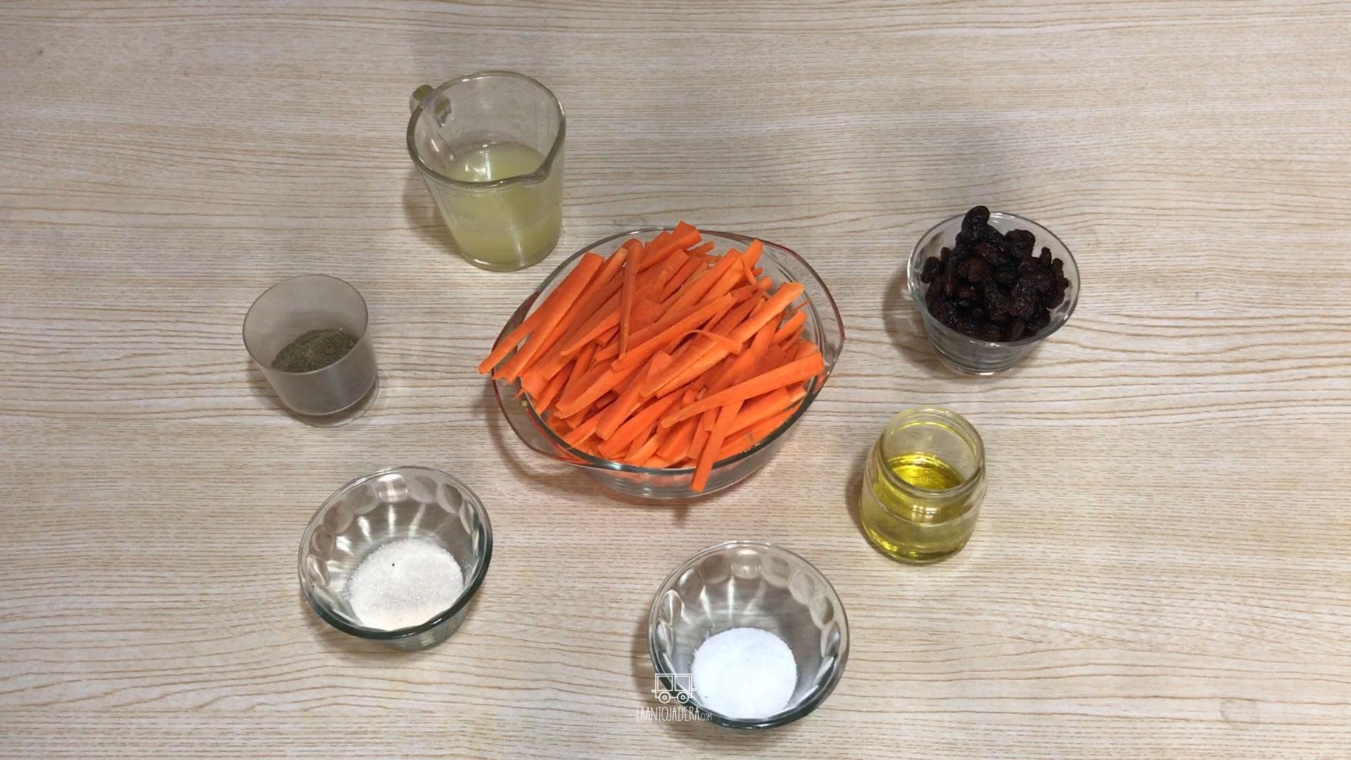 La Antojadera | Ensalada de Zanahoria con Pasas