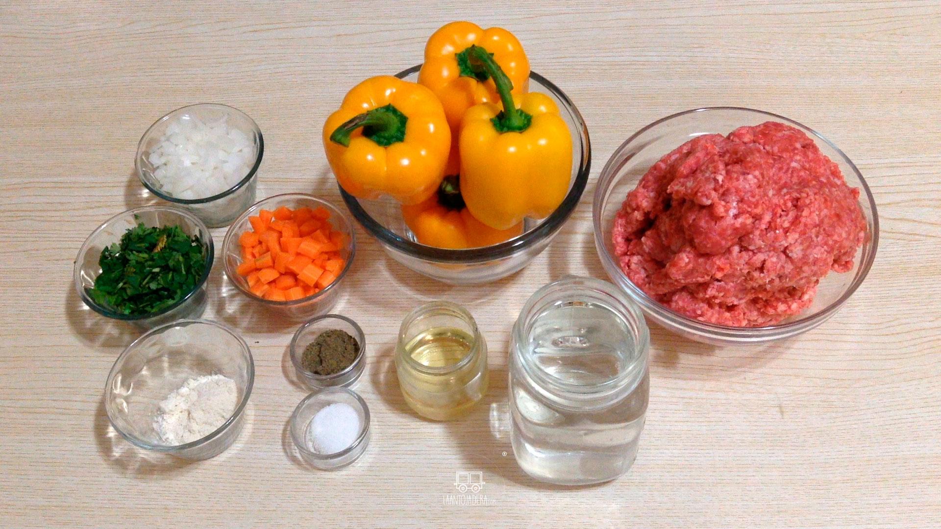 La Antojadera | Pimientos Rellenos de Carne Molida